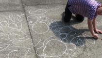 kresba na asfalt